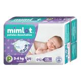 Pañales Bebe Mimlot Talla P - Por Bulto