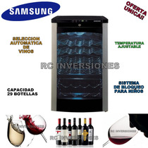 Nevera Vinera Samsung Para 29 Botellas Temperatura Ajustable