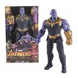 Muñeco Grande Avenger Luz Y Sonidos Capitan Thor Thano Hulk
