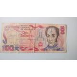 Billete Antiguo 100 Bolivares  Enero 29/1980 S    A13570596