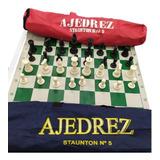 Juego De Ajedrez Staunton 5 Incluye Tablero Fichas Y Estuche
