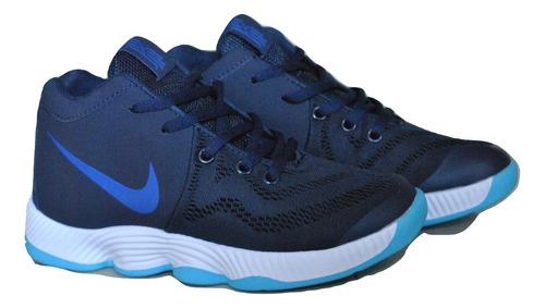 489951c3858b9 Kp3 Botas Niños Niñas Nike Kyrie Irving Azul   Blanco