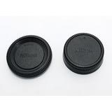 Tapas Para Cuerpo Y Lente Trasera Camaras Nikon Generico