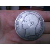 Moneda Fuerte De Plata Venezolana Año 1921