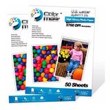 Papel Fotografico Color Make 50 Hojas Tamaño Carta 180grs