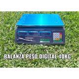 Peso Electronico Charcutero Digital 40 Kg Batería Recargable