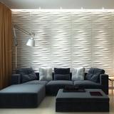 Paneles 3d Decorativos En Yeso Modelo Wave 2
