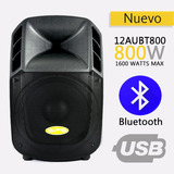 Corneta Amplificada Sps Audio 12 Aubt 800 Watt Bluetooth Usb