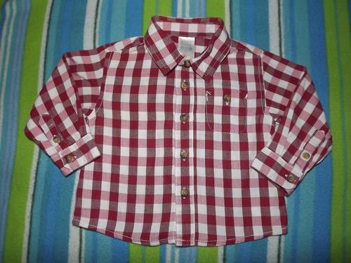e55c7fd62ee31 Camisa Manga Larga De Niño Bebe Zara Baby Talla 3-6 Meses