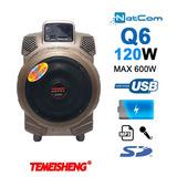 Corneta Amplificada Temeisheng Q6 Mic Bateria Usb Sd
