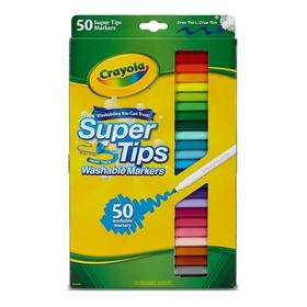 Crayola 50 Marcadores Lavables Super Tips Para Niños