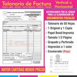 Talonario Factura Fiscal Autorizado Por El Seniat 24 Horas