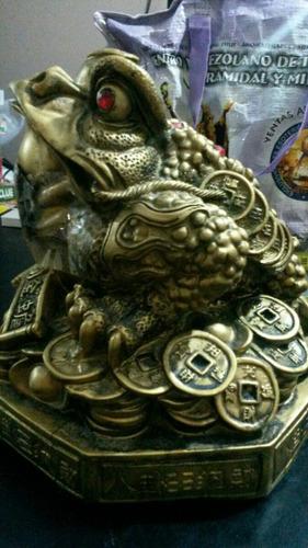 Rana de tres patas grandes con moneda cura de feng shui - Rana de tres patas feng shui ...