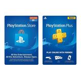 Tarjeta Playstation Store Plus Psn Ps4 Ps3 Codigo Digital