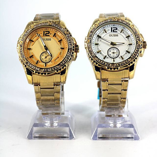 4f514a0339fa Relojes Acero Dorado Dama Guess Mk Y Fossil 2018 Detal may