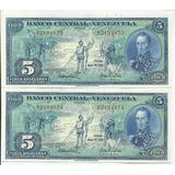 Excelente Billete 5 Bs Bolívares. Mayo 10 Año 1966. Dieguito