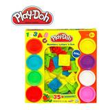 Play Doh Numeros Y Letras Set 8 Plastilinas + 35 Piezas [17]