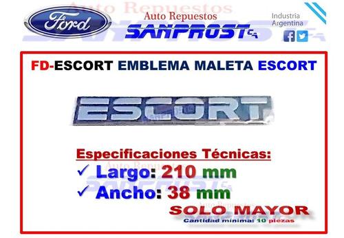 Emblema Maleta Escort (solo Mayor) C/u Foto 8