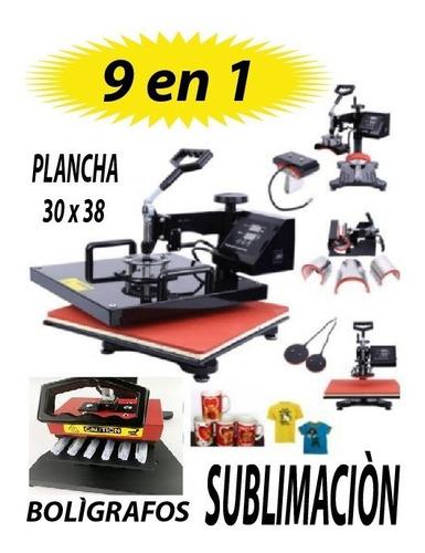 Maquina De Sublimacion 9 En 1 + Impresora