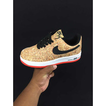 sale retailer 0a870 4a9cd Zapato Nike Air Force One Corcho Y Normales