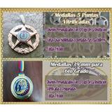 Medallas 5 Puntas Y 39 Mm