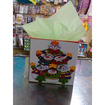 Cotillones Mdf Cajas Navideña Navidad 12cmx12cmx10cm