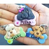 Dijes, Medallas Para Collar De Mascotas Con Su Nombre, 3 Uds