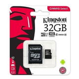 Memoria Micro Sd Hc 32gb Kingston Clase 10 Original Sellada.