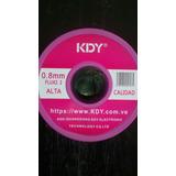 Rollo Estaño Kdy 60/40 160mtr Alta Calidad Con Fundente 0.8m