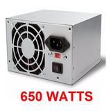 Fuente De Poder 650 Watts Wash Atx 20+4 Pines Sata Poder Xtc