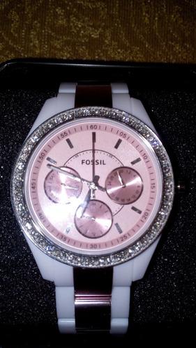 6b22bf4ed696 Reloj Fossil Stella Pink Dama 100% Orig