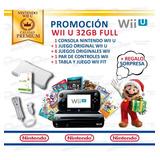 Consola Nintendo Wii U + 7 Juegos + Combo Original Wii Fit