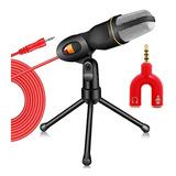 Microfono Condensador Sf666+ Para Smartphone Pc Y Laptop