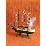 Barco ( Velero ) De Madera Pieza Coleccionable Feng Shui