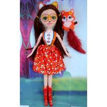 Muñeca Enchantimals + Mascota Conejo Panda Barbie Jugue Niña