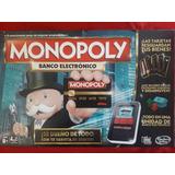 Juego Mesa Familiar Monopoly Banco Electronico Junior Hasbro