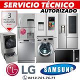 Servicio Técnico LG Samsung Neveras Lavadora Secadora Hornos