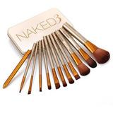 Set Estuche 12 Brochas Y Pinceles Naked 3 Maquillaje
