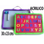Pizarras Acrilica + Marcador + Borrador + Letras Magneticas