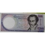 Billete 500 Bolivares 1990 Error Imprenta Sin Serial