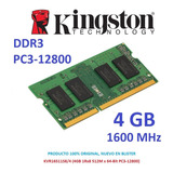 Memoria 4gb Ddr3 1600 Mhz Kingston Pc3-12800 Sodimm Laptop
