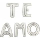 Globo Metalizado Con Frase Te Amo 40cm