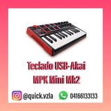 Teclado Midi Usb-akai Mpk Mini De 25 Teclas