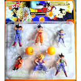 Figuras Dragon Ball Z Set 6 Muñecos Goku Vegeta Juguete Niño
