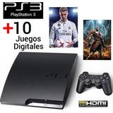 Ps3, Playstation 3 Original +8 Juegos, Garantía Somos Tienda