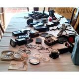 Equipo De Fotografia Vintage Camara Canon F-1 Y Lentes.