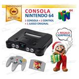 Excelente Consola De Videojuego Nintendo 64 + Juego Original