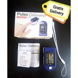 Oxi-me-tro Monitor De Pulso Dedo Oxígeno Delivery Gratis