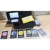 Nintendo 3ds - Cosmo Black Y Starter Kit (excelente Estado)