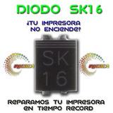 Pack 10 Diodo Sk16 Epson.